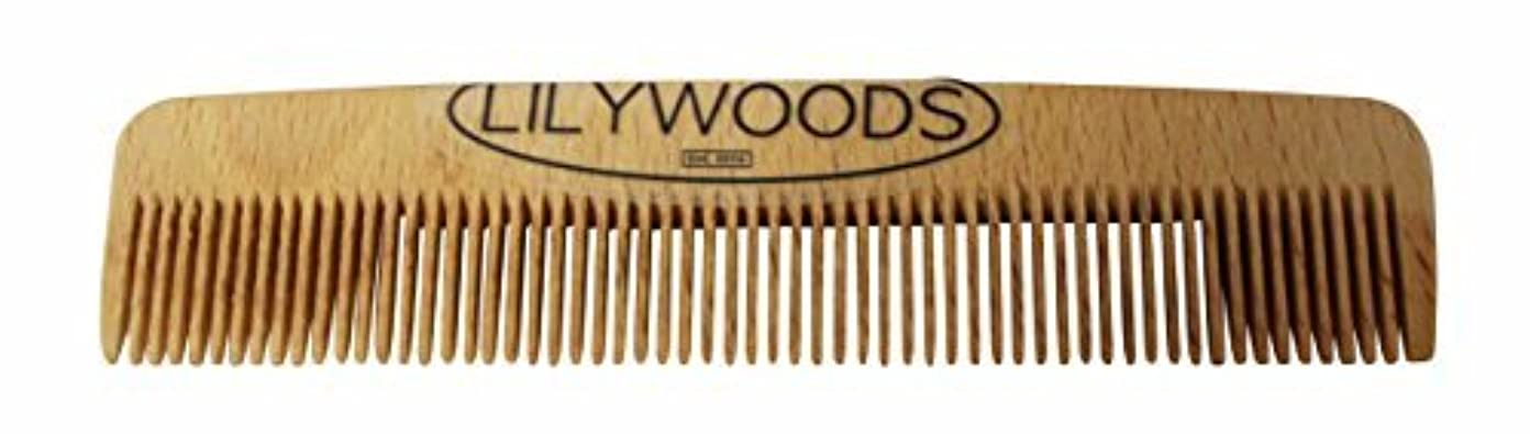西リレー消費するLilywoods 13cm Wooden Baby Hair Comb - made of Natural Beechwood - for Infants and Children [並行輸入品]