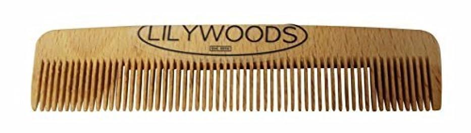 電話をかけるぼかし狂信者Lilywoods 13cm Wooden Baby Hair Comb - made of Natural Beechwood - for Infants and Children [並行輸入品]