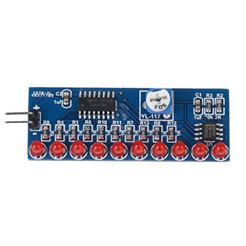 NE555+CD401ライトウォーターモジュール,SODIAL(R) NE555ライトウォーター+ CD4017 10進数の配線モジュールDIYキット