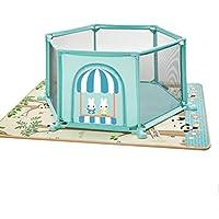 ベビーサークル 赤ちゃんの遊び場の幼児のプレイヤード家庭用ゲームフェンス屋内遊び場と両面クロールマット (サイズ さいず : 1cm thick mat)