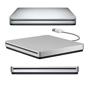VersionTech USB2.0 ポータブルドライブ DVD VCD CD±RW 外付けドライブ for Apple MacBook Air Macbook Pro Ultrabook Netbook PC用のバーナードライブ スーパードライブ SuperDrive