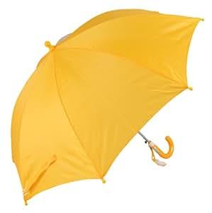 学童用ジャンプ傘 透明窓付 親骨50cm 名札付 黄 1050