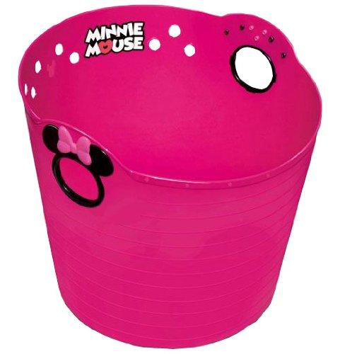 錦化成 ディズニー やわらかバケツ ミニーマウス チェリーピンク R36 洗濯カゴ・おもちゃ入れのおかたづけに