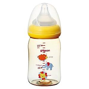 ピジョン Pigeon 母乳実感 哺乳びん プラスチック製 アニマル柄 160ml 0ヵ月から おっぱい育児を確実にサポートする哺乳びん