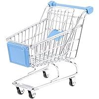 Kids Shopping Fun Entertainment Pretend Play HandcartトロリーおもちゃスカイブルーM