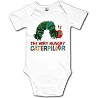 Ghhpws Caterpillar The Very Hungry Baby's Boy's/Girl's Short Sleeve Comfortable One Piece White