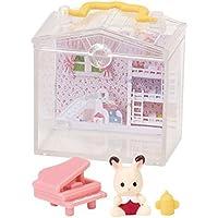 シルバニアファミリー かざれる赤ちゃんハウスとお庭 [1.赤ちゃんハウス ショコラウサギの赤ちゃん&ピアノ](単品)