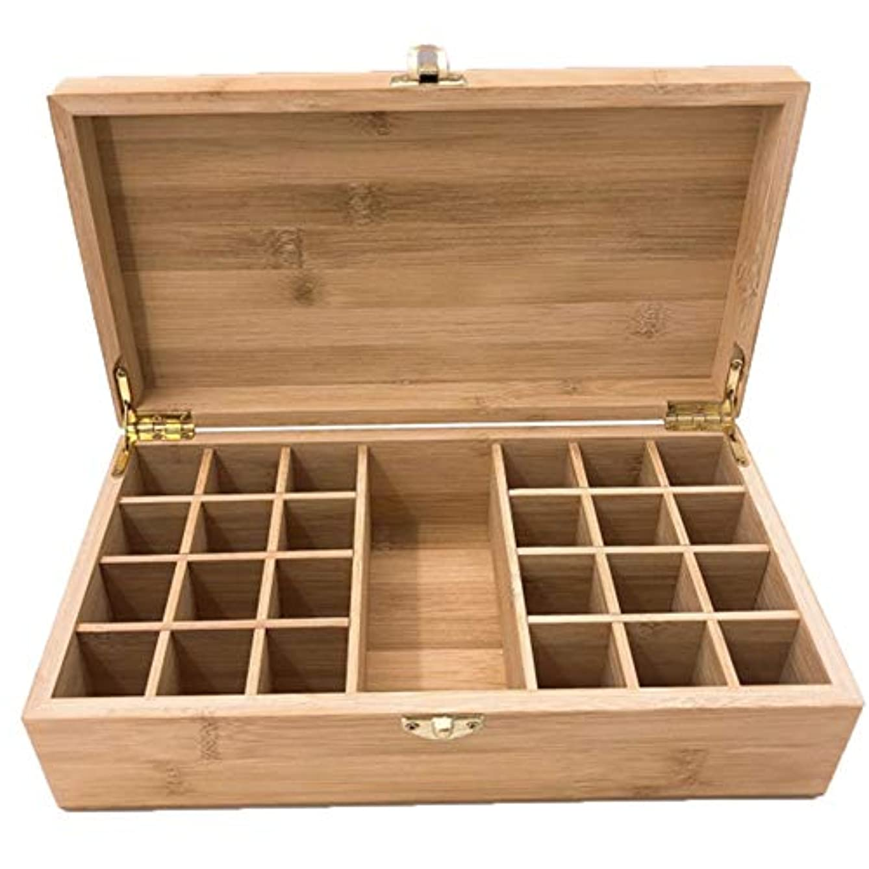 フリンジ雰囲気仮定、想定。推測エッセンシャルオイルストレージボックスケース木製??の主催者は25本のキャリングセーフボトルやホームストレージの表示を保持します アロマセラピー製品 (色 : Natural, サイズ : 27.5X15X8.3CM)