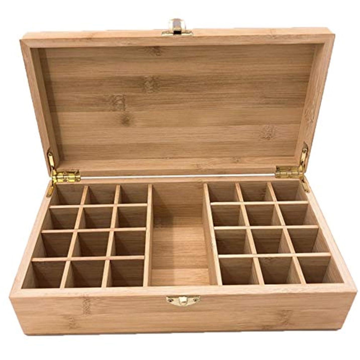 スイング妖精メールエッセンシャルオイルストレージボックスケース木製??の主催者は25本のキャリングセーフボトルやホームストレージの表示を保持します アロマセラピー製品 (色 : Natural, サイズ : 27.5X15X8.3CM)