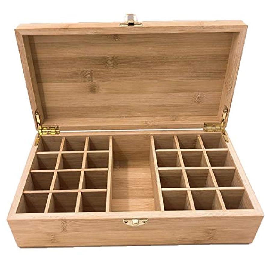 エイリアス社会主義者同時エッセンシャルオイルの保管 エッセンシャルオイルストレージボックスケース木製??の主催者は25本のキャリングセーフボトルやホームストレージの表示を保持します (色 : Natural, サイズ : 27.5X15X8.3CM)