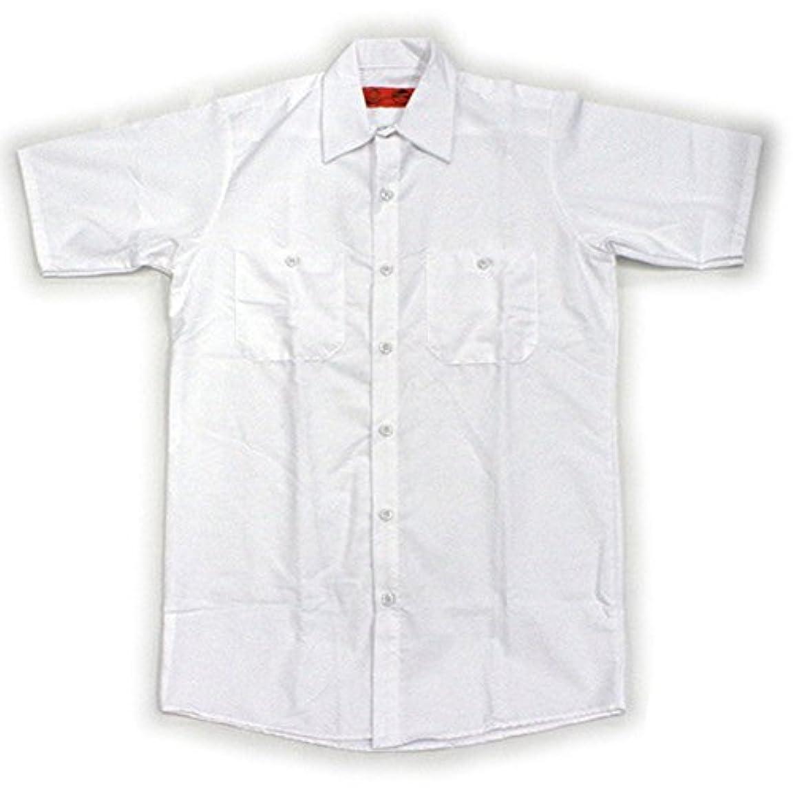 等歌手メダルRED KAP(レッドキャップ)/SHORT SLEEVE SOLID WORK SHIRTS(半袖ソリッドワークシャツ) M WH:ホワイト(White)