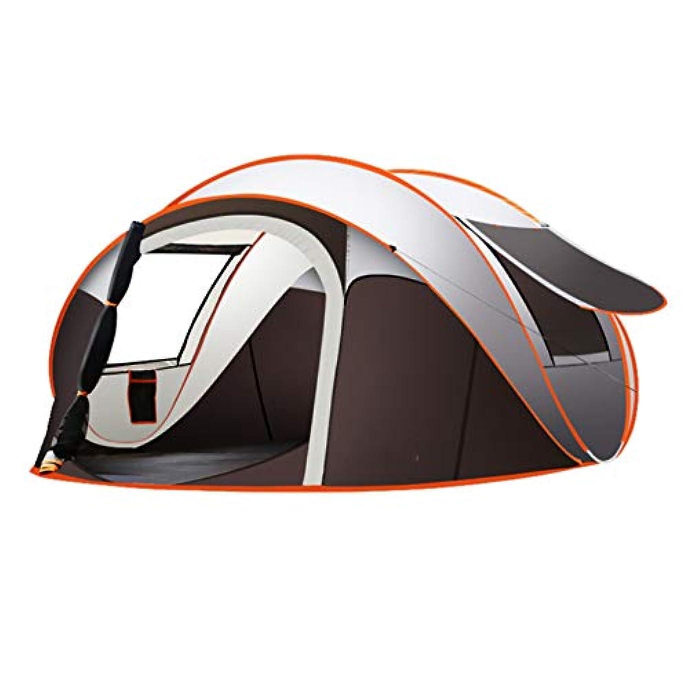 ロケーション幻滅する喉が渇いた家族キャンプテント5-8人がポップアップドームファミリービーチキャンプテントを自動的に設置