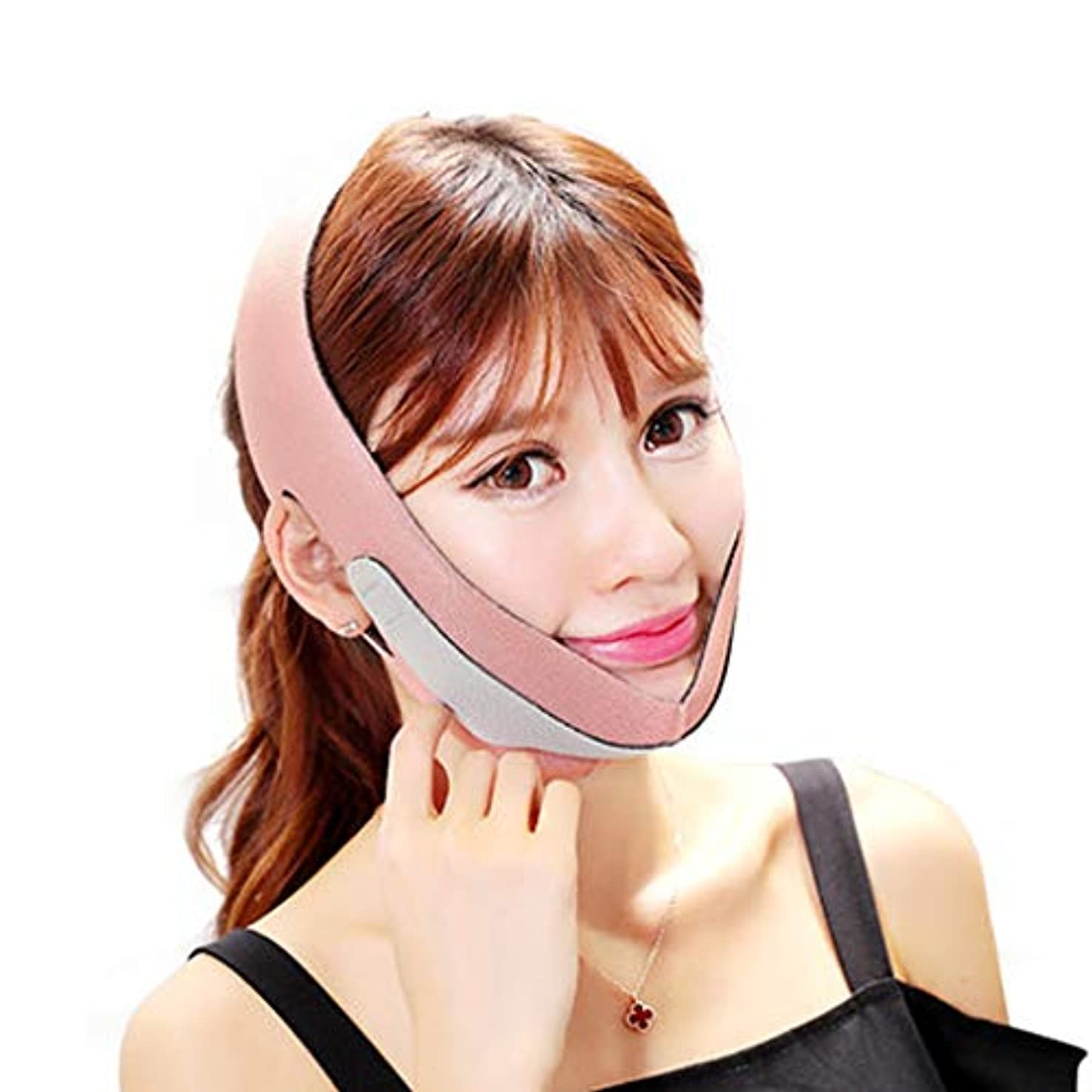 摂動製造討論痩身マスク V 顔ベルトあご頬スリムリフティングアンチしわマスクスリムストラップ