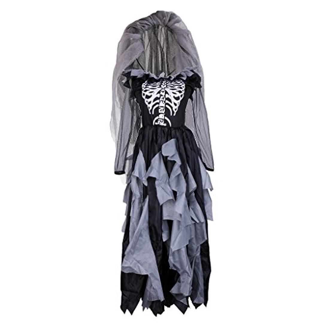 同意自発的最小化するBlesiya レディー ゾンビ ゴースト ブライド コスチューム ハロウィーン パーティー衣装 ファンシー ドレス