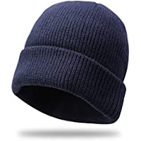 Divine Shield Beanie Hat Knit Cuff Winter Outdoor Hat Warm Stretchy & Soft Beanie Caps Men & Women Solid Color