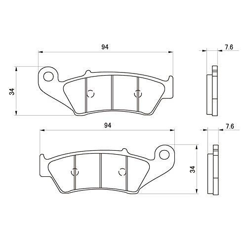 デイトナ(DAYTONA) ブレーキパッド 赤パッド フロント:WR250R/DR-Z400/XR250 など 79800