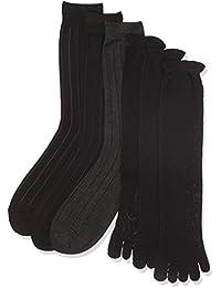 (イヤシ) 癒足 メンズ 冷え取り靴下 紳士 重ね履き靴下 冷え取りソックス ストライプ 外履き用3足+内履き用3足セット