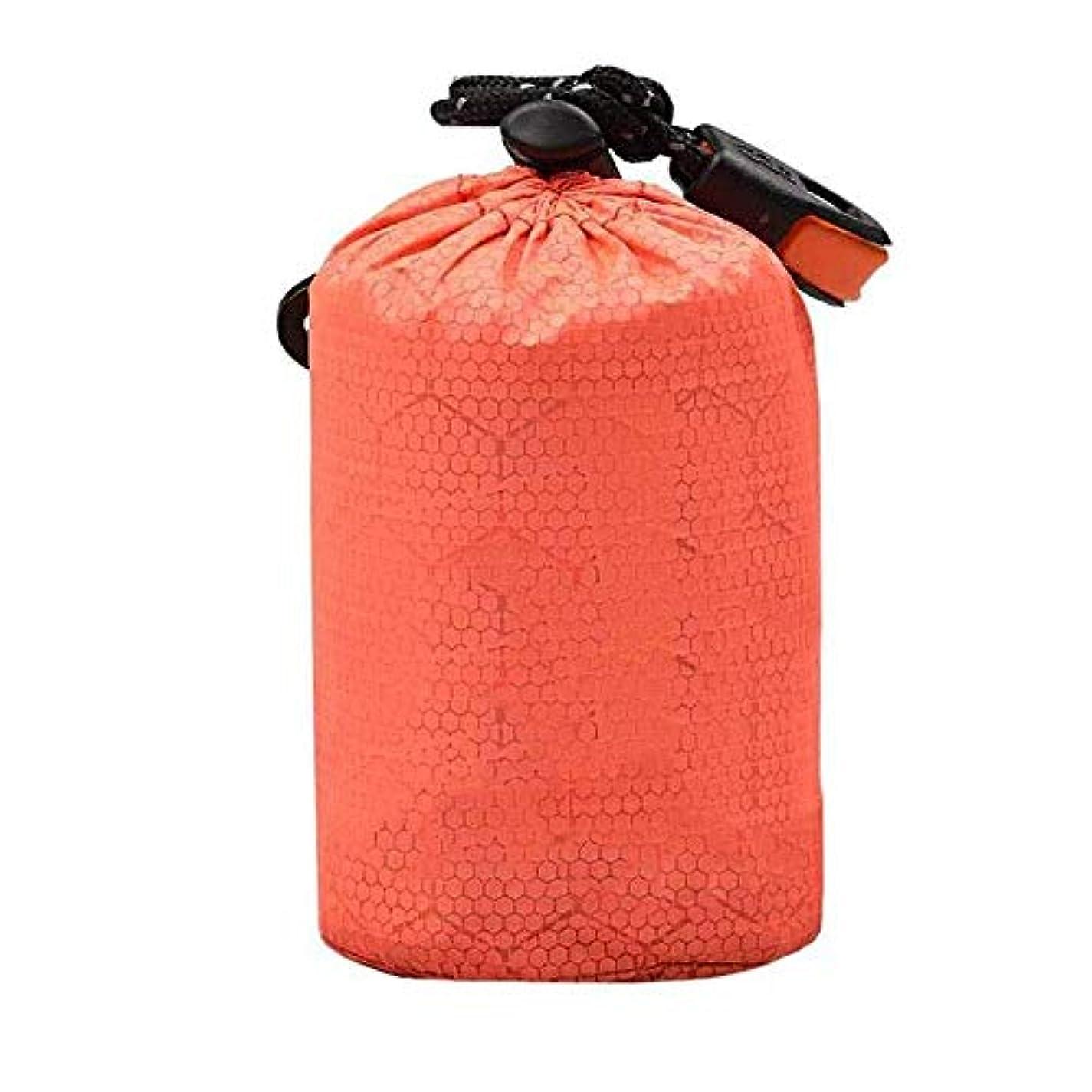 節約温かいましいホイッスルストラップ付きのキャンプ用屋外寝袋巾着収納袋