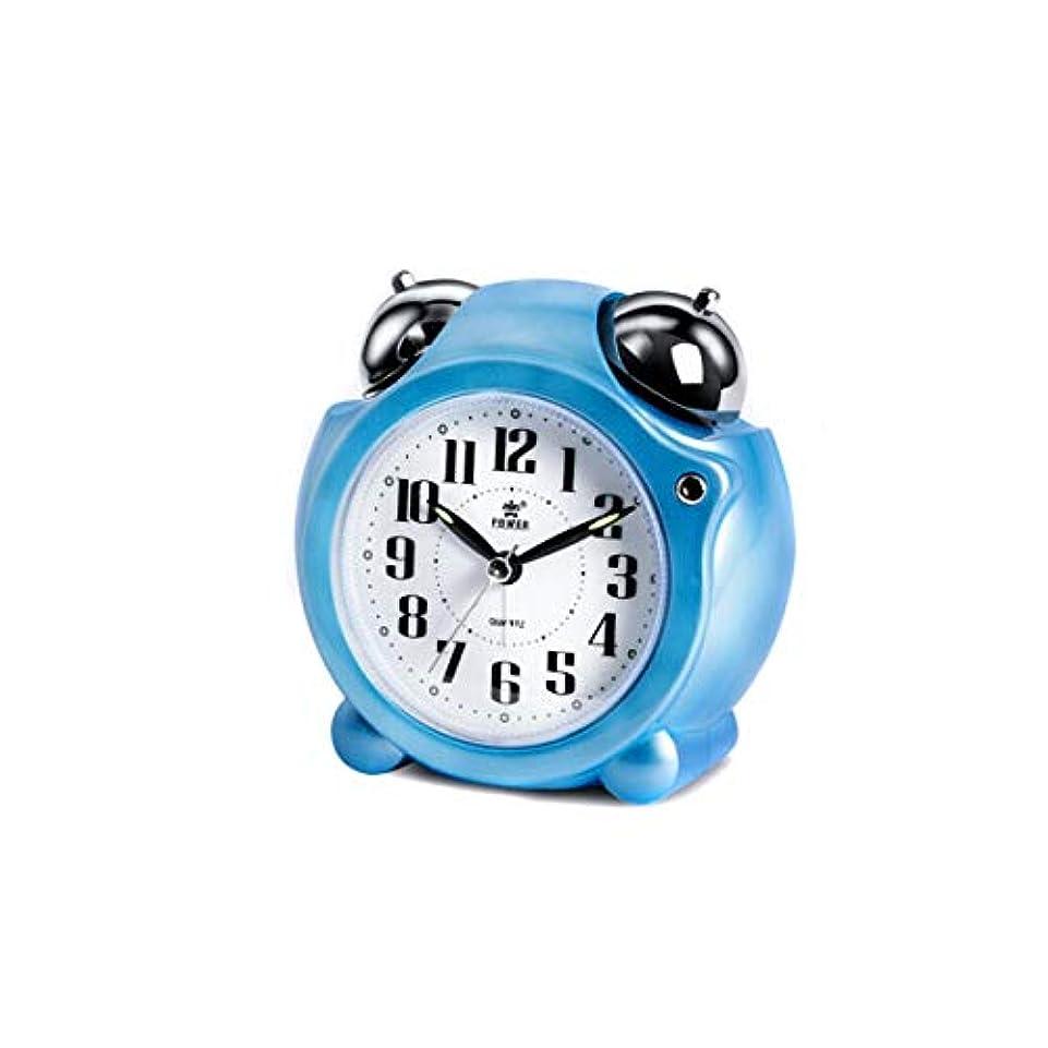 所得終了しました夕暮れKaiyitong001 目覚まし時計、創造的な時計スヌーズメカニカルリンギングアラームテーブル、環境ポインター学生小さな目覚まし時計、ベッドサイドベル時計、青 (Color : Blue)