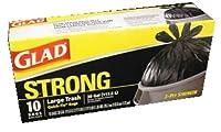 Glad Strong Large Trashクイックネクタイバッグ5/ 30ガロン