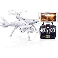 RaiFu RC クワッドローター  ドローン SYMA X5SW WiFi カメラ 付き ドローン リアル タイム トランス ミッション FPV クワドコプター クアドロコプター(X5Cアップグレード) HD カメラ ドローン  4CH RC ヘリコプター ホワイト