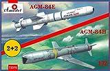 Aモデル 1/72 アメリカ海軍 SLAM AGM-84E & AGM-84H 対地ミサイル 各2発 プラモデル AM72375
