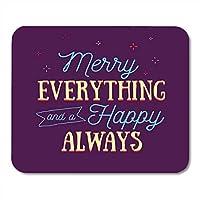 マウスパッド書道赤い誕生日メリーすべてと幸せ常に引用タイポグラフィ書道を祝うマウスマットノートブックデスクトップコンピューターに適したマウスパッド