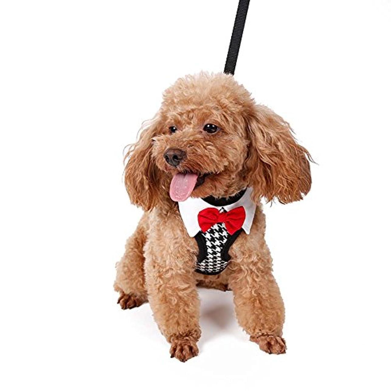 冒険震えるいいね【Tona】犬ハーネス 猫ハーネス 犬 猫リード セット 牽引ロープ 小型 中型 安全 調節可能 軽量 通気 簡単脱着式 胸あて式 結び ソフト お散歩アイテム お出かけ用品 サイズM