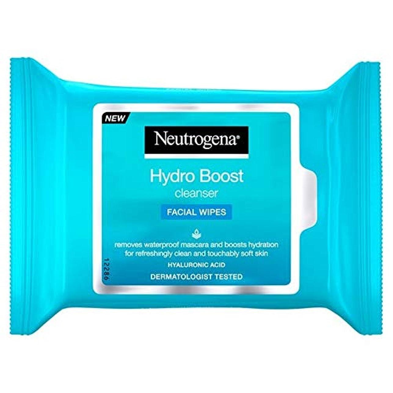 公演真っ逆さま待つ[Neutrogena ] ニュートロジーナハイドロブーストは25あたりのパックをワイプ - Neutrogena Hydro Boost Wipes 25 per pack [並行輸入品]