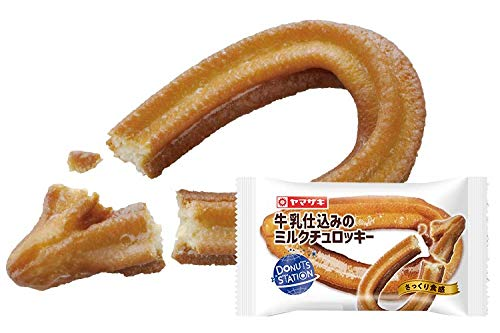 ヤマザキ ドーナツステーション 牛乳仕込みの ミルクチュロッキー×3個 ヤマザキパン横浜工場