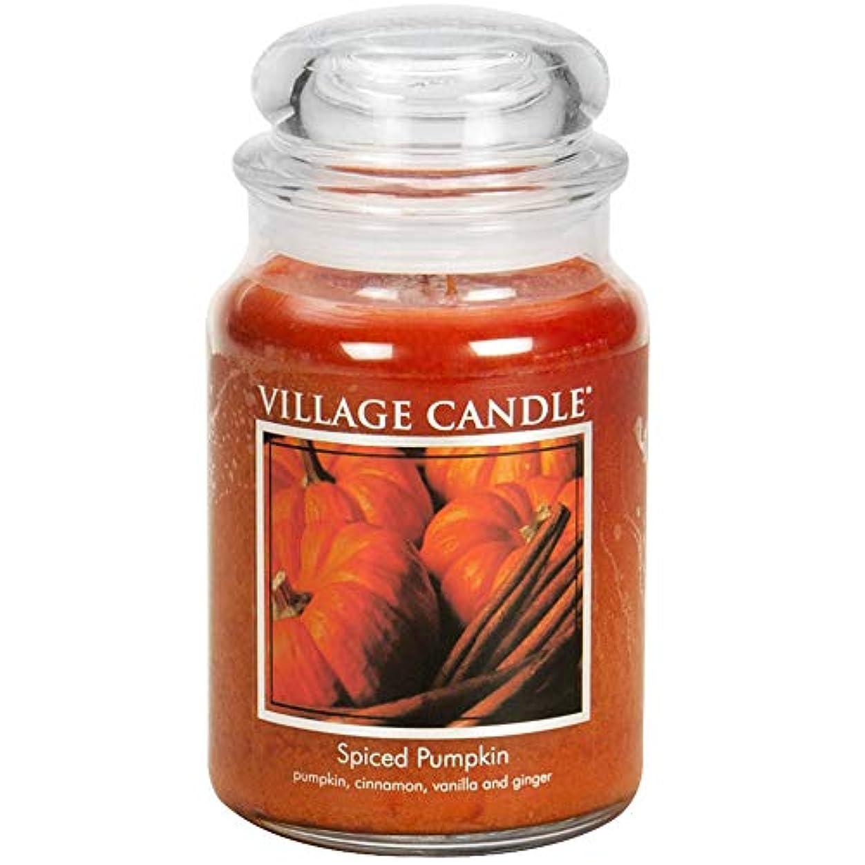 シーサイドマダム減る(Large (770ml)) - Village Candle Spiced Pumpkin 770ml Glass Jar Scented Candle, Large