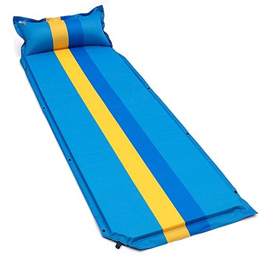 ひばり辞任する才能屋外のキャンプのための付属の膨脹可能な枕が付いている速い流れ弁そして簡単で膨脹可能な睡眠のパッド、自己膨脹の空気の睡眠のパッドをバックパッキング、