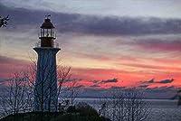 【カナダの風景/ウエストバンクバーのポストカード】ライトハウスパーク灯台葉書ハガキ photo by MIRO