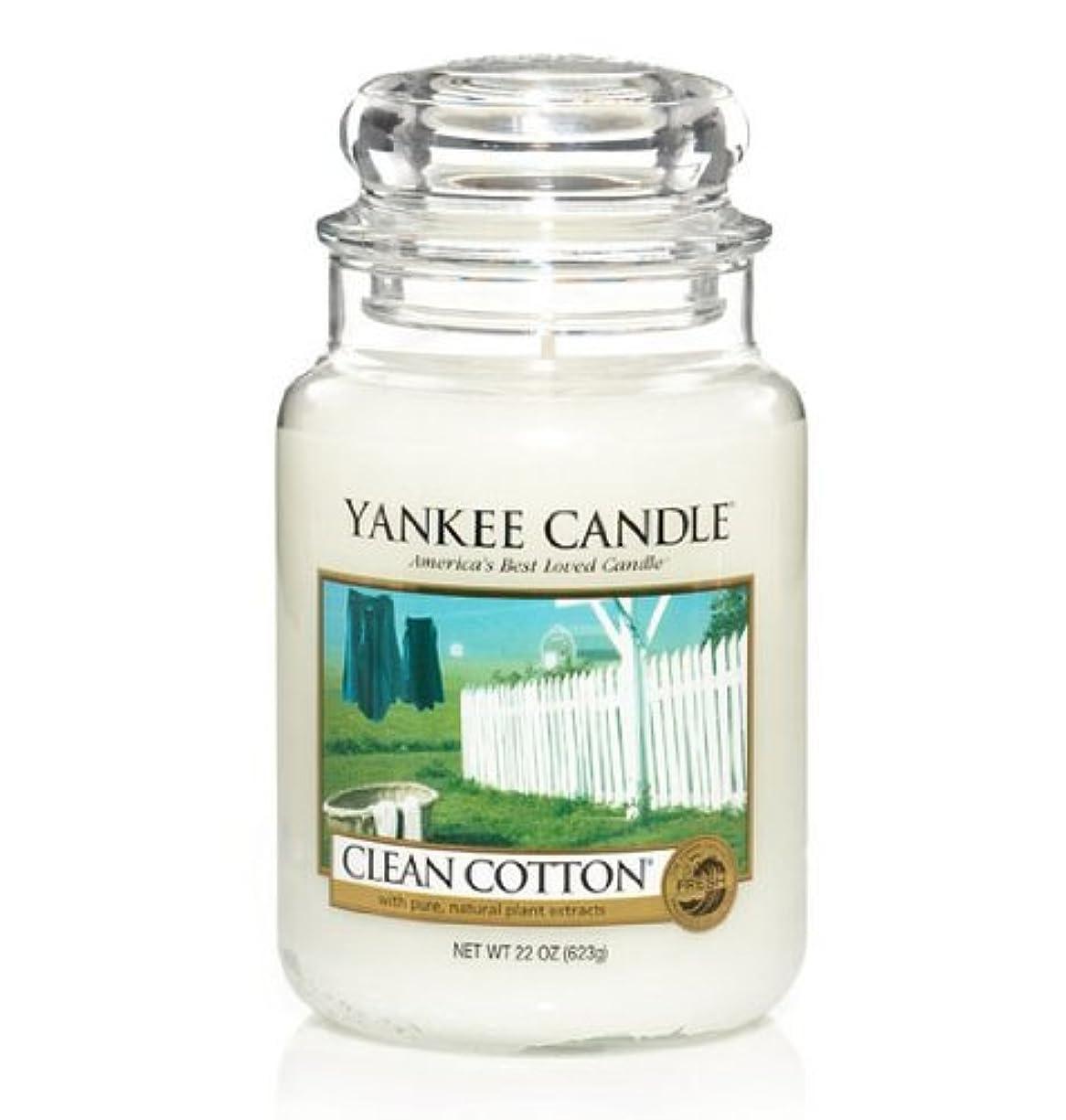 フクロウあいさつサミットYankee Candle Clean Cotton Large Jar 22oz Candle [並行輸入品]
