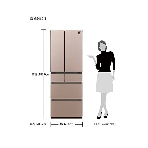シャープ 冷蔵庫 フレンチドア[ ガラスドアタ...の紹介画像2