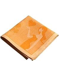 コットンハンカチwith装飾パターン、Aシリーズの純粋なダンサー、オレンジ
