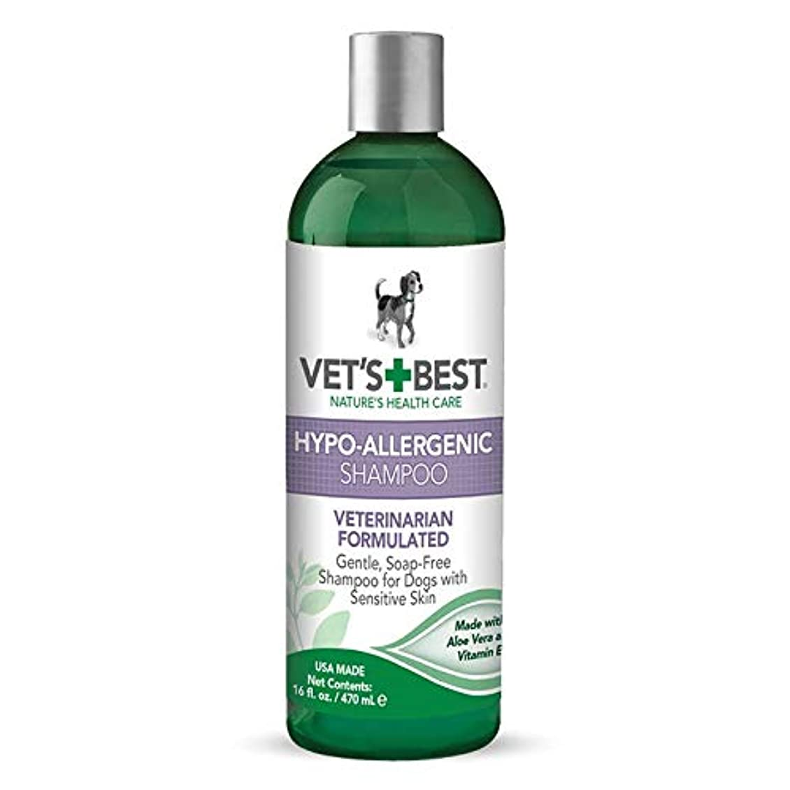 チケット無効踏みつけVet's Best Natural Formula Hypo-Allergenic Shampoo Gentle Soap Free for Dog 16oz