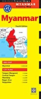 Myanmar Travel Map Fourth Edition: (Burma Travel Map) (Periplus Travel Maps)