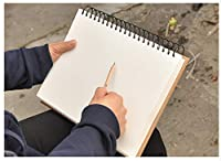 GRT スケッチブック 画用紙 A4サイズ 100枚 1冊 上質紙 ハードカバー プレゼント (ブラック)
