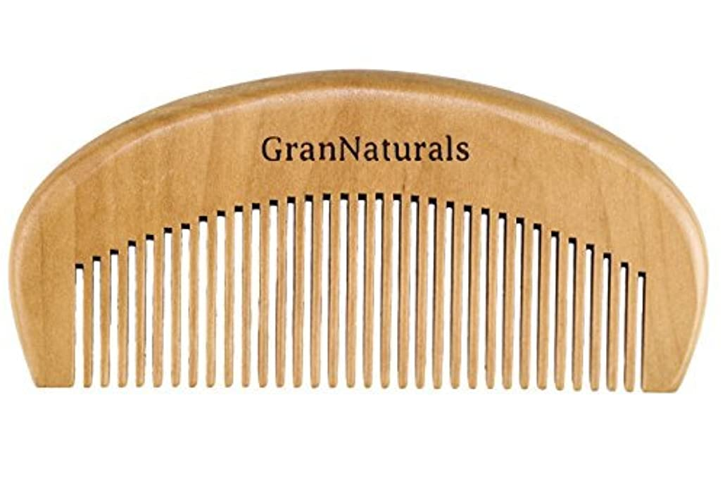 月曜自我シャトルGranNaturals Wooden Comb Hair + Beard Detangler for Women and Men - Natural Anti Static Wood for Detangling and...
