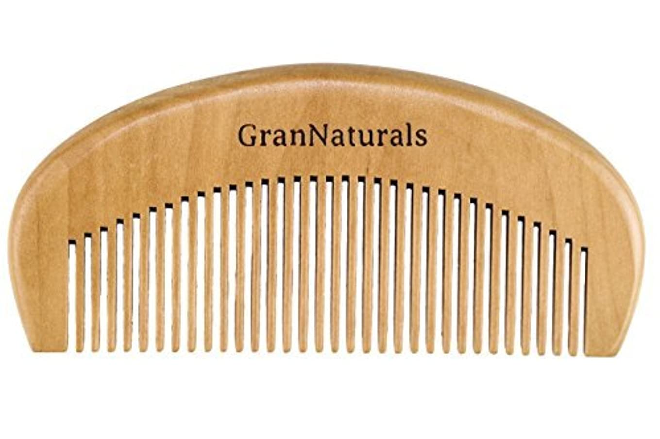 便益キャンバス眠りGranNaturals Wooden Comb Hair + Beard Detangler for Women and Men - Natural Anti Static Wood for Detangling and...