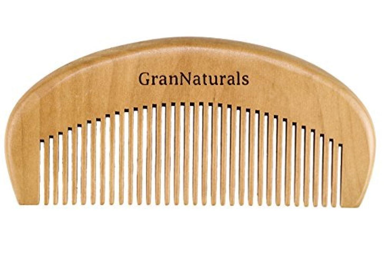 監督する舌収束するGranNaturals Wooden Comb Hair + Beard Detangler for Women and Men - Natural Anti Static Wood for Detangling and...