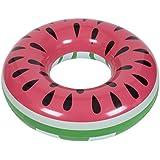 SHINING 浮き輪 大人用 直径120cm 足踏み式ポンプ付き 暑さ対策 プール?海?川 水泳用品 可愛いデザイン YQXG004(スイカ型)