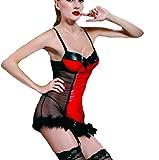 aidelaiセクシー服セクシーなランジェリー、ヨーロッパと米国チャームwithin Temptation Flirtブラックハーネス透明Lovelyショートスカート
