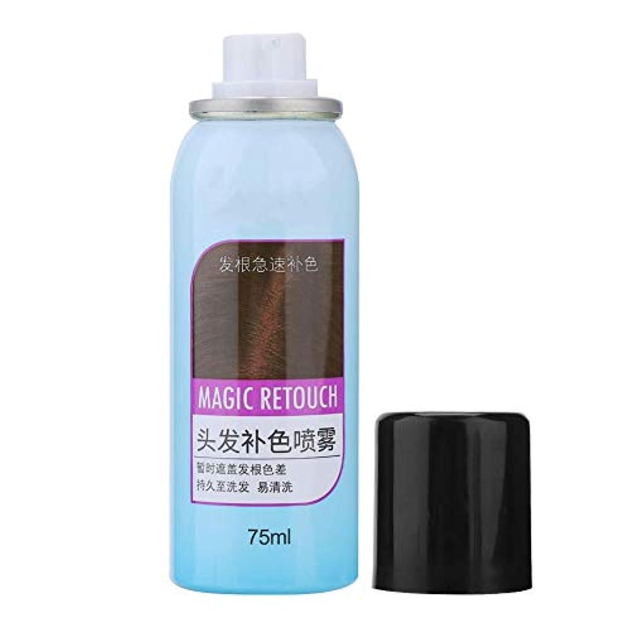 敵対的パーフェルビッド快い染毛剤、3色栄養を与える長続きがする効果ではなく、油性の使い捨て染毛剤カラースプレー75 ML(#3)