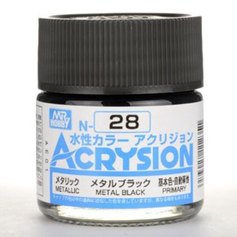 【水性アクリル樹脂塗料】新水性カラー アクリジョン メタルブラック N28