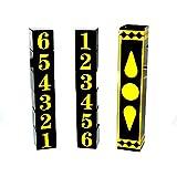 【手品 マジック】交換ダイス 骰子 数字転換 テレパシー ステージマジック道具 手品道具 (黒+黄)