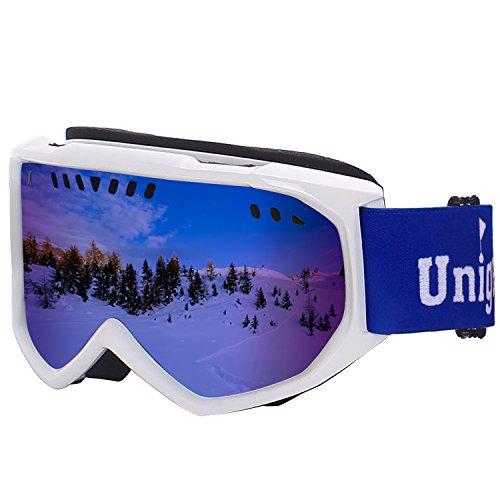 Unigear スキーゴーグル スノボートゴーグル UVカット 耐衝撃 防塵 防風 めがね対応 登山...