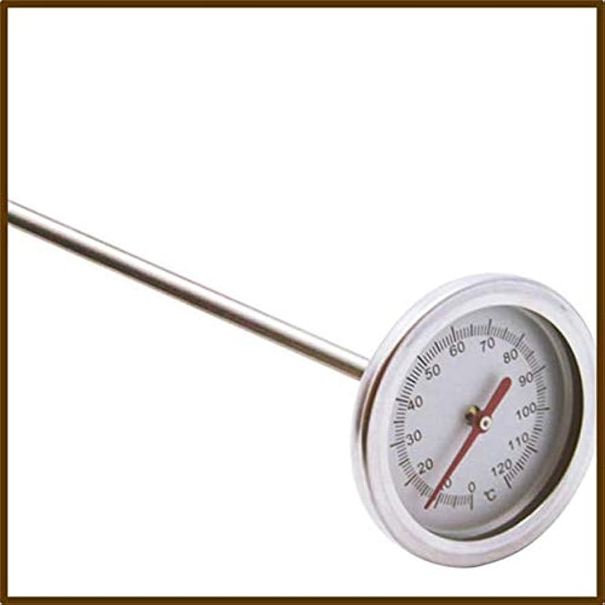 サイズ自発的高くSaikogoods 20インチ50cmの長さ 0℃-120℃ 堆肥の土壌温度計 プローブ検出器の測定プレミアム食品グレードステンレススチール メタル 銀