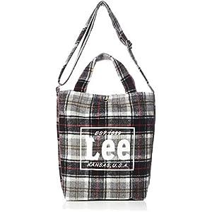 [リー]ショルダーバッグ Lee タータンチェック柄 2WAYトートバッグ グレー